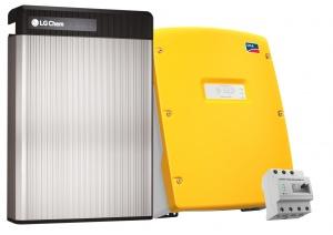 Solar Photovoltaik Stromspeicher Energiespeicher LG Chem RESU mit SMA Sunny Island und HomeManager 2.0